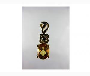 Splendid Citrine & Diamond Pendant