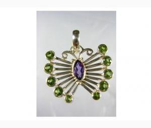 Amazing Amethyst and Peridot Pendant