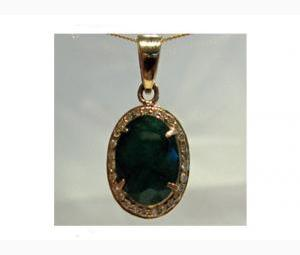 Emerald and Diamond Pendant