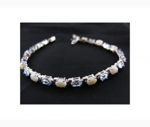 Sensational Topaz & Opal Eternity Bracelet