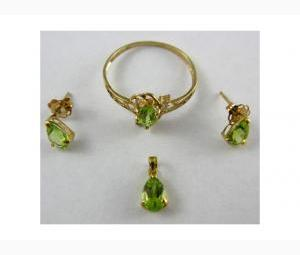 Green Peridot Jewellery - A Complete Set! August Birthstone!