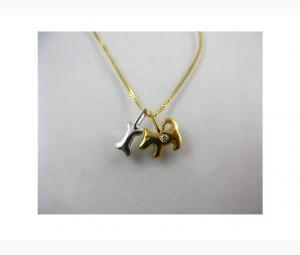 Child's Solid Gold Necklace - 2 Pendants