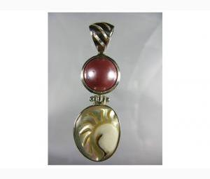 Sensational Mabe Pearl & Shell Pendant