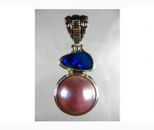 Glamorous Pearl & Opal Pendant