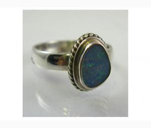 Amazing Opal Doublet Ring
