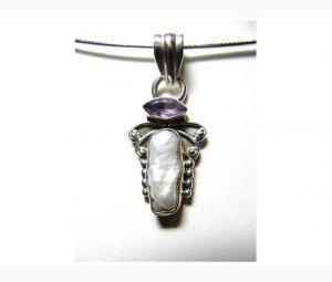 Opulent Pearl & Amethyst Pendant