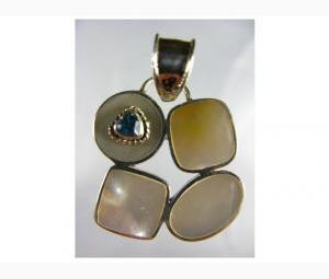 Divine Pearl & Blue Topaz Pendant.