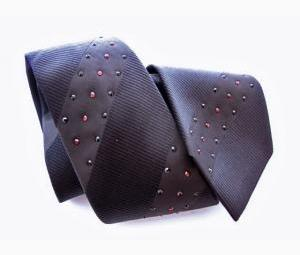 Silk Tie with Crystals