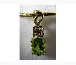 Glamorous Peridot & Diamond Pendant
