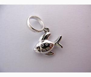 Gold & Diamond Fish Charm/Pendant