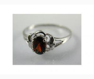 Truly Lovely Garnet Ring in White Gold
