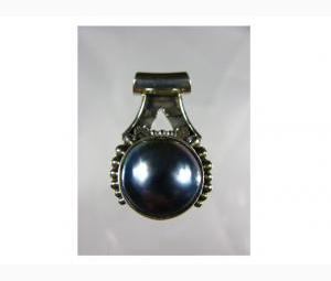 Glamorous Blue Mabe Pearl Pendant