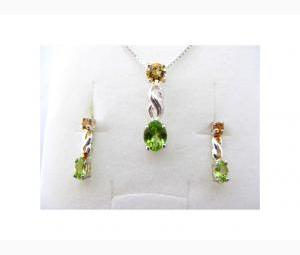 Citrine and Peridot Necklace and Earrings!
