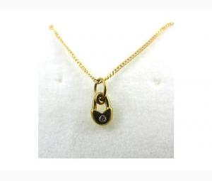 Child's Solid Gold Necklace - Nappy Pin!